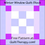 """Winter Window Quilt Block Free Pattern for a 12"""" quilt block at QuiltTherapy.com!"""