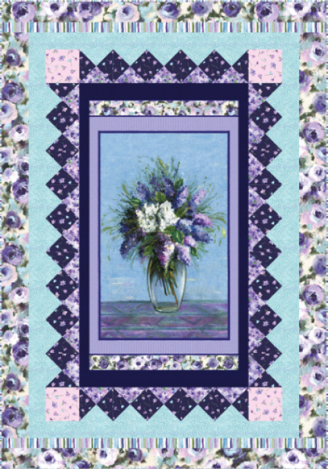 """""""Dreamscape"""" A Free Easter Quilt Pattern designed by Heidi Pridemore from Michael Miller Fabrics"""