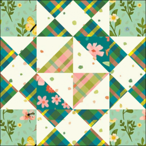 "Girl's Favorite Quilt Block Three from the ""Graceful Garden"" 2021 BOM Quilt! A Free Pattern Featured at BOMquilts.com!"
