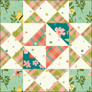 "Girl's Favorite Quilt Block One from the ""Graceful Garden"" 2021 BOM Quilt! A Free Pattern Featured at BOMquilts.com!"