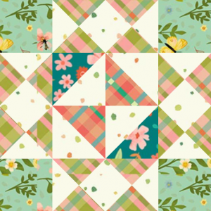 "Girl's Favorite Quilt Block Two from the ""Graceful Garden"" 2021 BOM Quilt! A Free Pattern Featured at BOMquilts.com!"