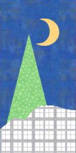 Winter Wonderland Quilt Block with One Tree! A Free Pattern for Member's at Quilt Dash!