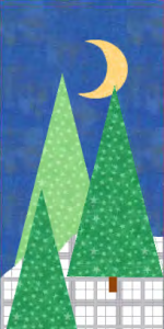 Winter Wonderland Quilt Block with Three Trees! A Free Pattern for Member's at Quilt Dash!