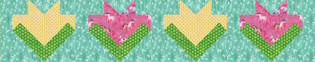 Floral Medley Quilt Row Free Pattern for Members of Quilt Dash who complete the March Quilt Dash!