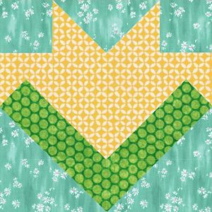 Floral Medley Quilt Block #2 Free Pattern for Members of Quilt Dash who complete the March Quilt Dash!
