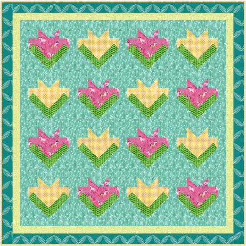 Floral Medley Quilt Free Pattern for Members of Quilt Dash who complete the March Quilt Dash!