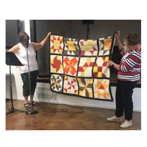 Cinnamon-teen Chocolate Figs & Roses Block of the Month Quilt made by Audrey T. designed by TK Harrison from BOMquilts.com!