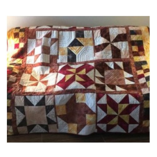 Cinnamon-teen Chocolate Figs & Roses Block of the Month Quilt made by Sharyl M. designed by TK Harrison from BOMquilts.com!
