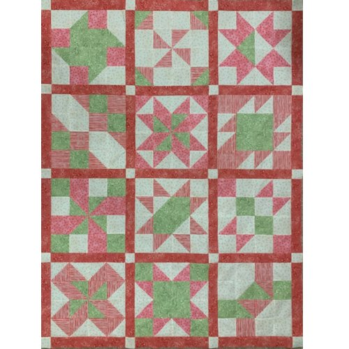 Cinnamon-teen Chocolate Figs & Roses Block of the Month Quilt made by Deb H. designed by TK Harrison from BOMquilts.com!