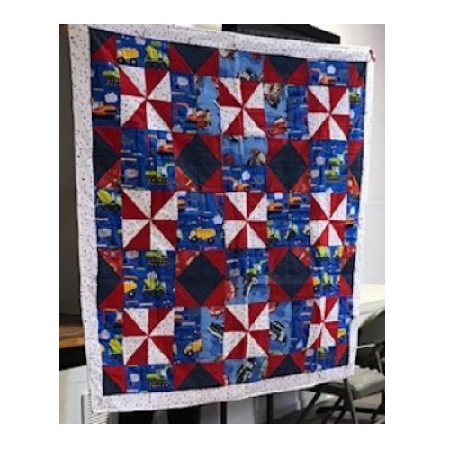 The Resort Club's Quilt Made with Block #4 from the Cinnamon-teen Chocolate Figs & Roses Block of the Month Quilt designed by TK Harrison from BOMquilts.com!