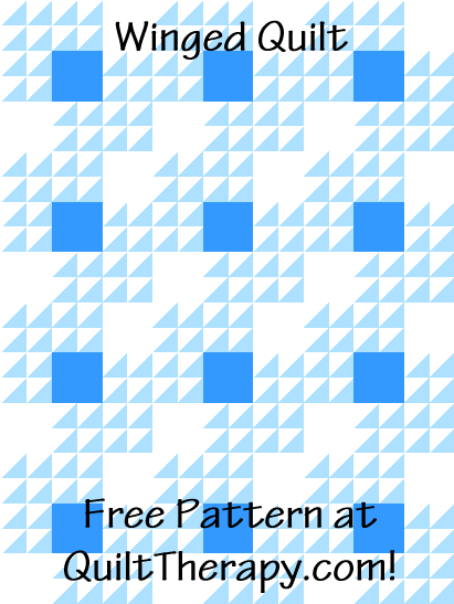 "Winged Quilt a Free Pattern for a 36"" x 48"" quilt at QuiltTherapy.com!"
