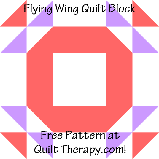 """Flying Ring Quilt Block a Free Pattern for a 12"""" quilt block at QuiltTherapy.com!"""