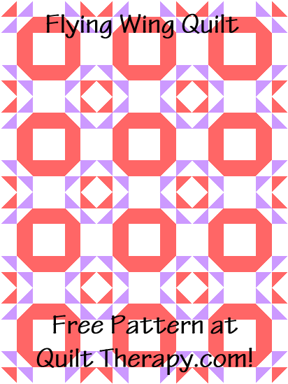"""Flying Ring Quilt a Free Pattern for a 36"""" x 48"""" quilt at QuiltTherapy.com!"""