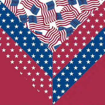 Patriotic Colors Quilt Block a Free Quilt Pattern for Quilt Dash members who complete the May 2021 Quilt Dash! Designed by Phyllis Dobbs!