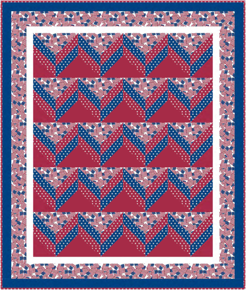 Patriotic Colors Quilt a Free Quilt Pattern for Quilt Dash members who complete the May 2021 Quilt Dash! Designed by Phyllis Dobbs!