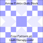 """Arrow Points Quilt Block is a Free Pattern for a 12"""" quilt block at QuiltTherapy.com!"""
