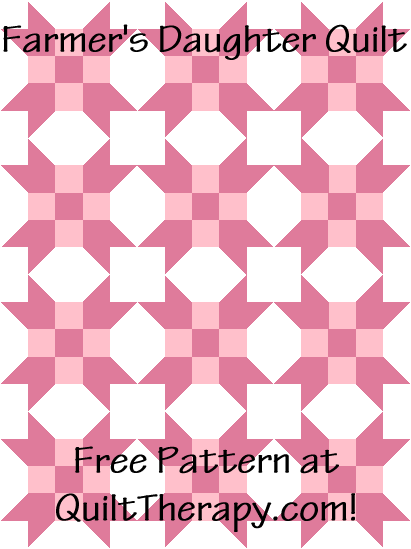 """Farmer's Daughter Quilt is a Free Pattern for a 36"""" x 48"""" quilt at QuiltTherapy.com!"""