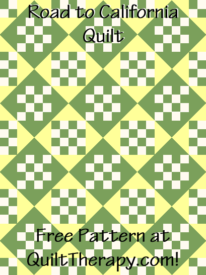 """Road to California Quilt is a Free Pattern for a 36"""" x 48"""" quilt at QuiltTherapy.com!"""