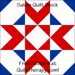 """Salem Quilt Block is a Free Pattern for a 12"""" quilt block at QuiltTherapy.com!"""