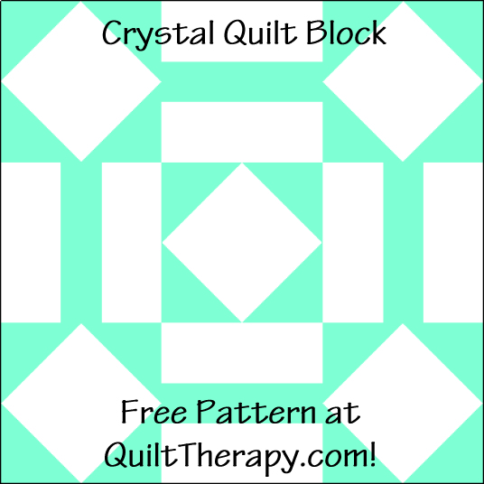 """Crystal Quilt Block is a Free Pattern for a 12"""" quilt block at QuiltTherapy.com!"""