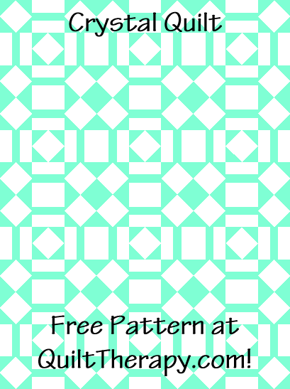 """Crystal Quilt is a Free Pattern for a 36"""" x 48"""" quilt at QuiltTherapy.com!"""