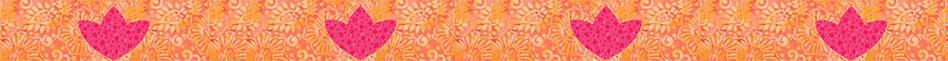 """Summertime"" appliqué Tulip row"