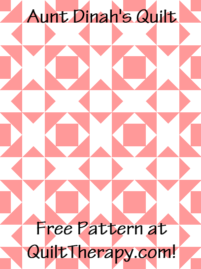 """Aunt Dinah's Quilt is a Free Pattern for a 36"""" x 48"""" quilt at QuiltTherapy.com!"""