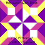 """Hopscotch Quilt Block is a Free Pattern for a 12"""" quilt block at QuiltTherapy.com!"""