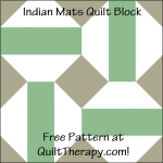 """Indian Mats Quilt Block is a Free Pattern for a 12"""" quilt block at QuiltTherapy.com!"""