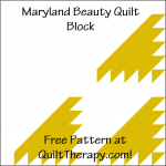 """Maryland Beauty Quilt Block is a Free Pattern for a 12"""" quilt block at QuiltTherapy.com!"""