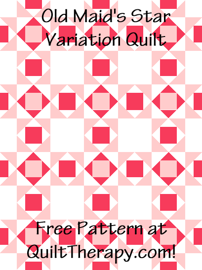 """Old Maid's Star Variation Quilt is a Free Pattern for a 36"""" x 48"""" quilt at QuiltTherapy.com!"""