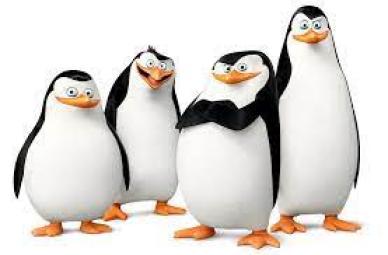 """The Penguins from the original movie """"Madagascar""""!"""