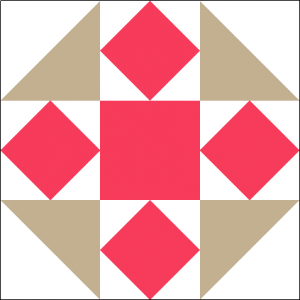 """Raspberry Cheesecake Quilt Block is a Free Pattern for a 12"""" quilt block at QuiltTherapy.com!"""