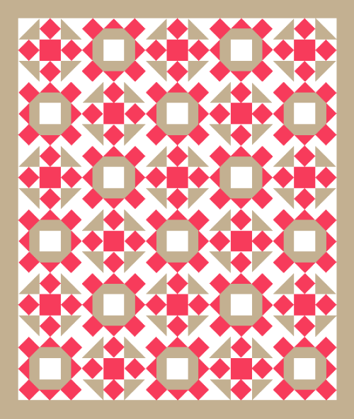 """""""Smile & Wave"""" Quilt is a Free Pattern Designed by TK Harrison for members of Quilt Dash!"""