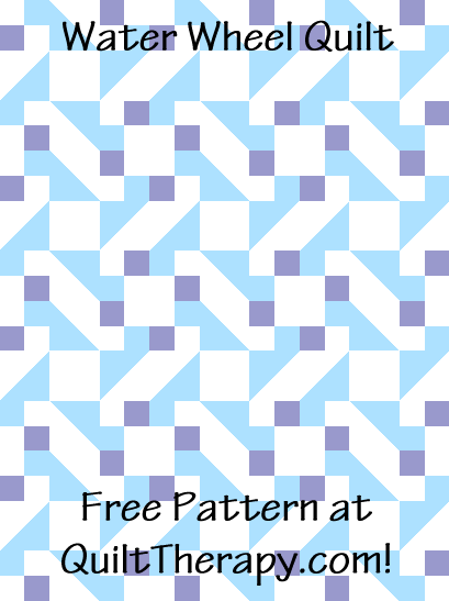 """Water Wheel Quilt is a Free Pattern for a 36"""" x 48"""" quilt at QuiltTherapy.com!"""
