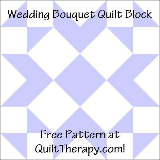 """Wedding Bouquet Quilt Block is a Free Pattern for a 12"""" quilt block at QuiltTherapy.com!"""