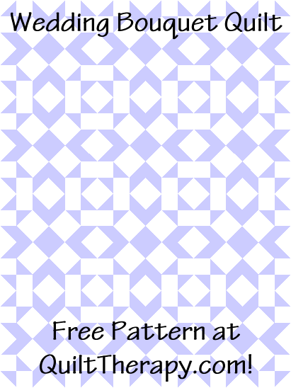 """Wedding Bouquet Quilt is a Free Pattern for a 36"""" x 48"""" quilt at QuiltTherapy.com!"""