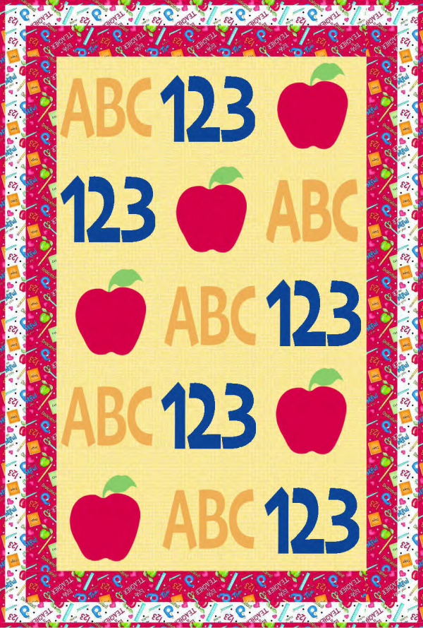 """""""Back to School"""" is a Free Quilt Pattern designed by Phyllis Dobbs for Quilt Dash!"""