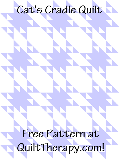 """Cat's Cradle Quilt is a Free Pattern for a 36"""" x 48"""" quilt at QuiltTherapy.com!"""