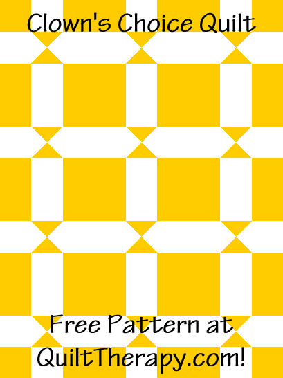 """Clown's Choice Quilt is a Free Pattern for a 36"""" x 48"""" quilt at QuiltTherapy.com!"""