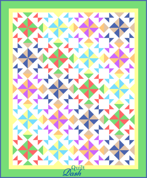 """This """"Colorful Wishes"""" Quilt is a Free Pattern that Quilt Dash members earn for completing the October 2021 Quilt Dash game!"""